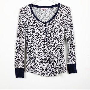 Victoria's Secret Leopard Thermal Night Shirt